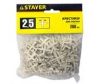 Крестики 2,5 мм для кафеля 200 шт. Stayer