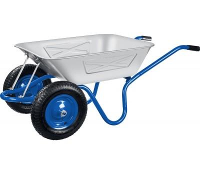 Тачка 100л Строительная (синяя) с колесом