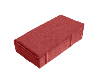 Тротуарная плитка Брусчатка (Кирпич) 200х100х40 Красный