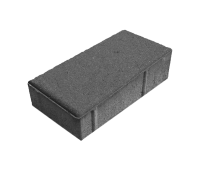 Тротуарная плитка Брусчатка (Кирпич) 200х100х40 Серый