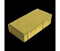 Тротуарная плитка Брусчатка (Кирпич) 200х100х40 Желтый