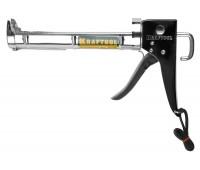 Пистолет для герметиков 320 мл, KRAFTOOL полукорп. хром.